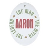 Aaron Man Myth Legend Oval Ornament