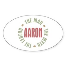 Aaron Man Myth Legend Oval Decal
