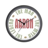 Aaron Man Myth Legend Wall Clock