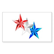 Stars Rectangle Sticker 50 pk)