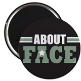 "About Face Military 2.25"" Magnet (100 pack)"