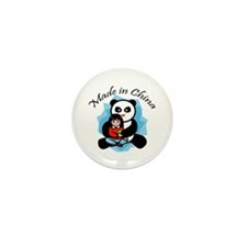 Made in China Panda Mini Button (100 pack)