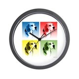 Beagle Pop Art Wall Clock