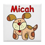 Micah Puppy Tile Coaster