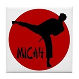 Micah Karate Tile Coaster
