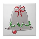 Christmas Bell - Tile Coaster
