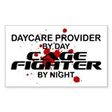 Daycare Cage Fighter by Night Rectangle Decal