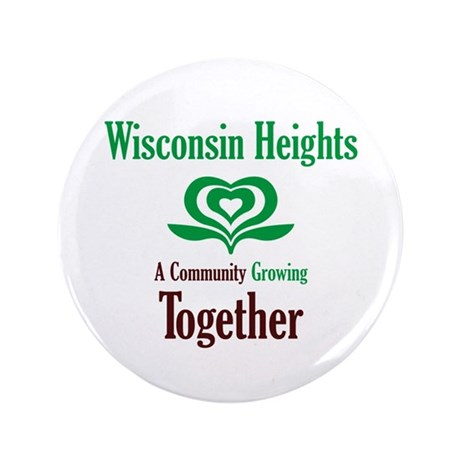 "Wisconsin Heights School 3.5"" Button"