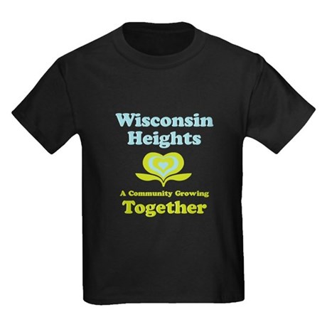 Wisconsin Heights School Kids Dark T-Shirt