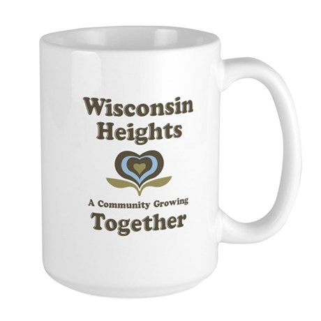 Wisconsin Heights School Large Mug