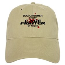 Dog Groomer Cage Fighter by Night Baseball Cap