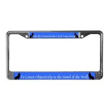 Howling Wolf License Plate Frame