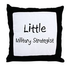 Little Military Strategist Throw Pillow