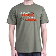 A man's castle garage T-Shirt