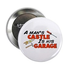 "A man's castle garage 2.25"" Button"