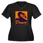 DANCE Women's Plus Size V-Neck Dark T-Shirt