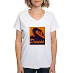 DANCE Women's V-Neck T-Shirt