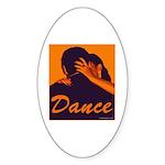DANCE Oval Sticker (10 pk)