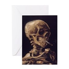 Van Gogh Skull Greeting Card