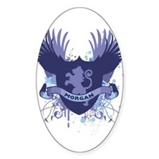 Morgan Family Crest Oval Decal