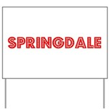Retro Springdale (Red) Yard Sign