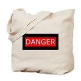 DANGER! do NOT leave on train, leave home! ToteBag