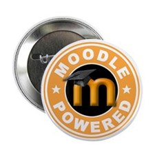 "Moodle Powered 2.25"" Button (10 pack)"