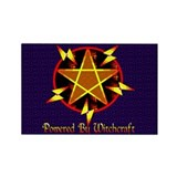 Powered By Witchcraft Rectangle Magnet (100 pack)