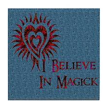 I Believe in Magick Tile Coaster