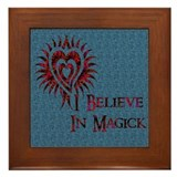 I Believe in Magick Framed Tile