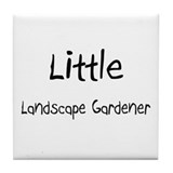 Little Landscape Gardener Tile Coaster