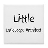 Little Landscape Architect Tile Coaster