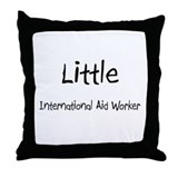 Little International Aid Worker Throw Pillow