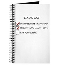 Supervillain To Do List Journal
