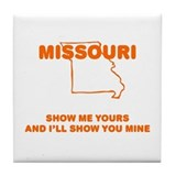 Missouri Show Me Tile Coaster