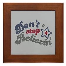 Don't Stop Believin' Framed Tile