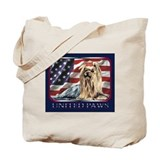 Yorkie Terrier Dog Patriotic Flag USA Tote Bag