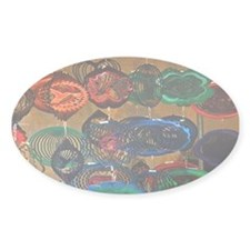 Color Wheels Oval Sticker (50 pk)