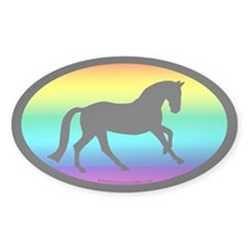 Canter Horse Rainbow Oval Oval Decal