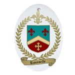 ROUSSELLE Family Crest Oval Ornament
