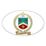 ROUSSELLE Family Crest Oval Sticker (10 pk)