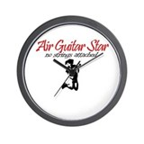 Air Guitar Star - No Strings  Wall Clock