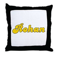 Retro Rohan (Gold) Throw Pillow
