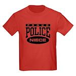 Proud Police Niece Kids Dark T-Shirt
