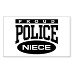 Proud Police Niece Rectangle Sticker