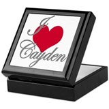 I love (heart) Cayden Keepsake Box