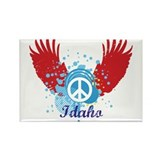 Idaho Peace Rectangle Magnet