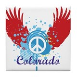 Colorado Peace Tile Coaster