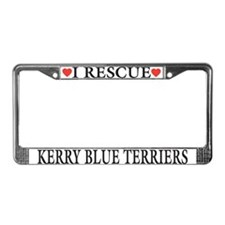 Kerry Blue Rescue License Plate Frame