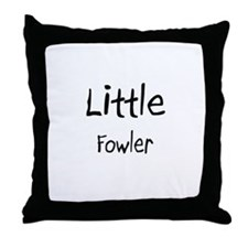 Little Fowler Throw Pillow